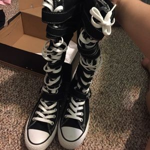 Converse Laced up with Buckles Boots
